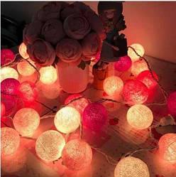 Гирлянды декоративные Cotton Balls 20 шариков