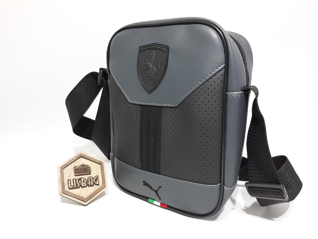 3acedfc42ddf ... фото Мужская сумка Puma ferrari на каждый день реплика люкс качества 2х  компонентная кожа PU, ...
