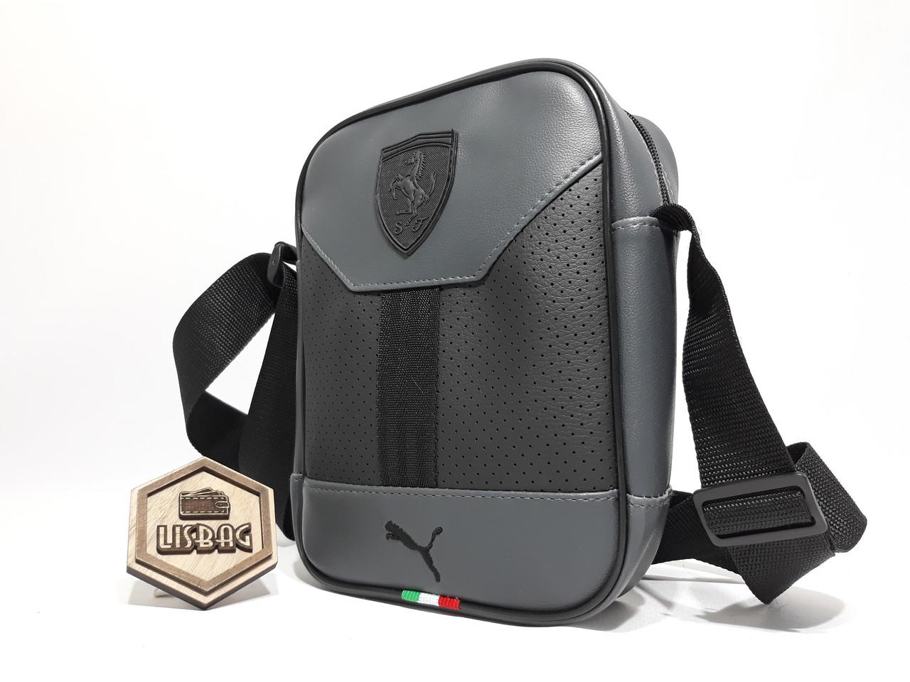 d05efc395b0f Мужская сумка Puma ferrari на каждый день реплика люкс качества 2х  компонентная кожа PU, ...