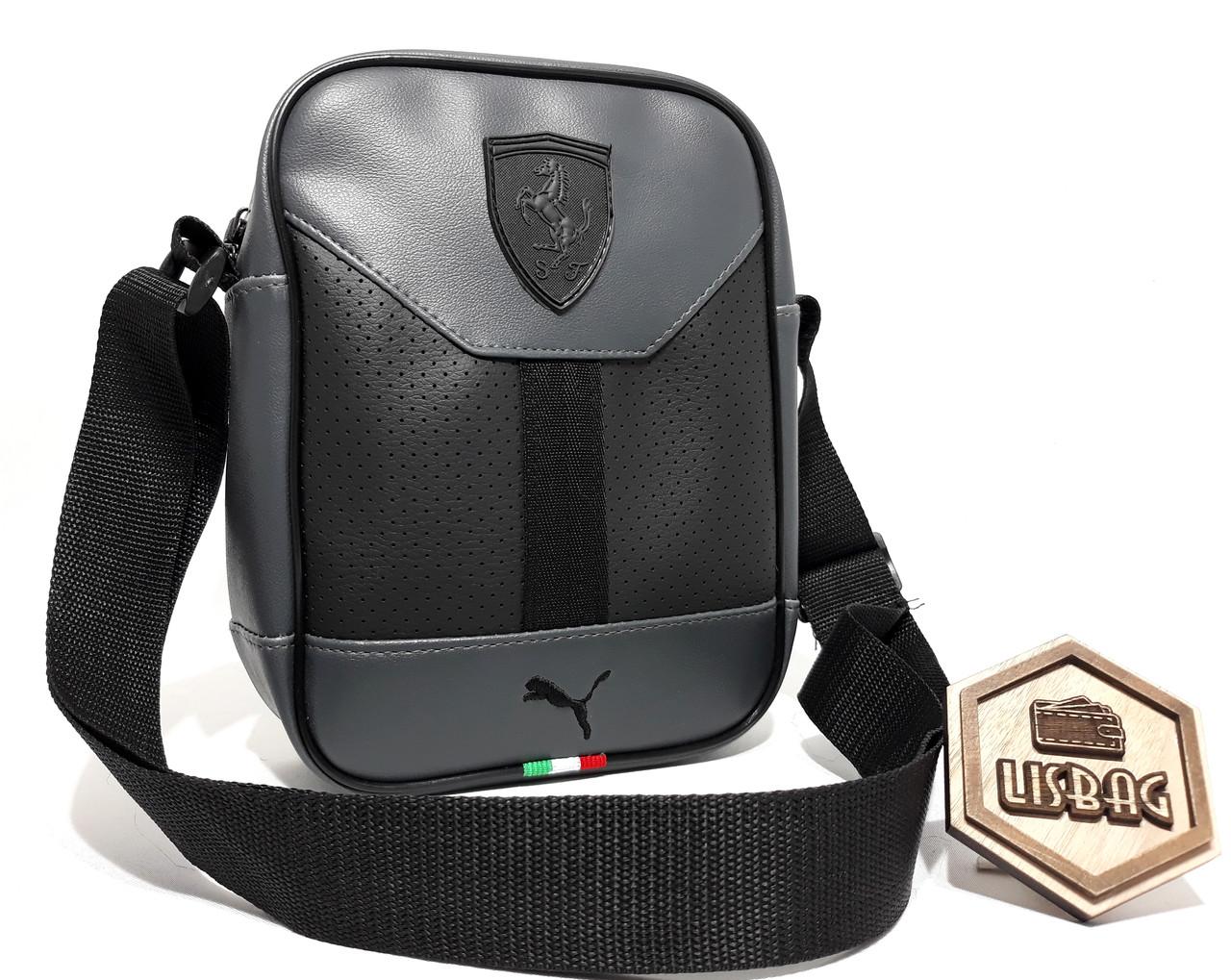 e36fd41750d0 Мужская сумка Puma ferrari на каждый день реплика люкс качества 2х  компонентная кожа PU - Интернет