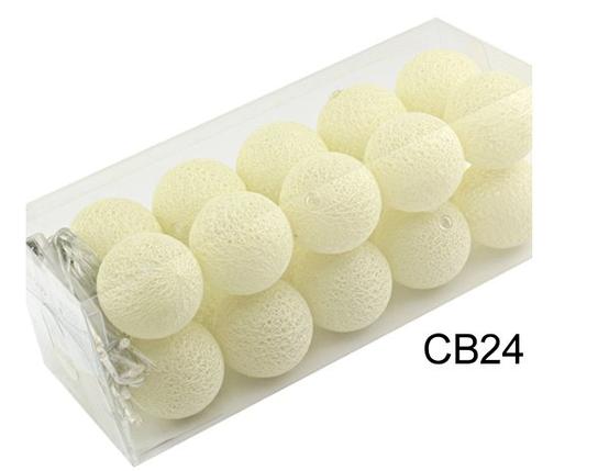 Гирлянды декоративные Cotton Balls 20led, диам 6см, длина 330см на батарейках АА, фото 2