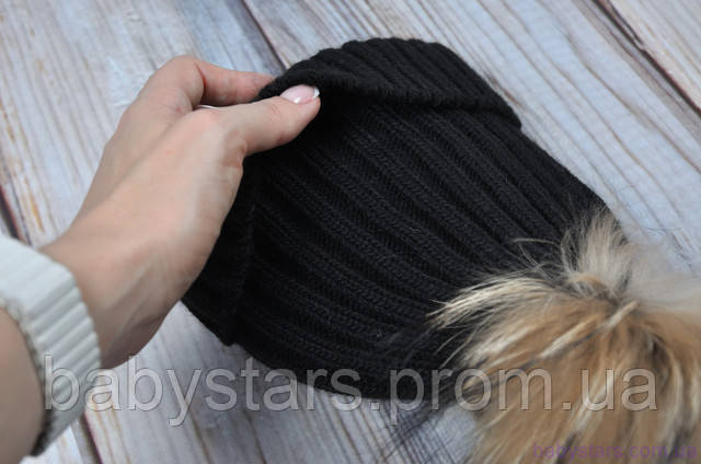 вязаная шапочка до года