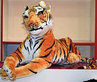 Мягкая игрушка Тигр лежит 56см №8898-34
