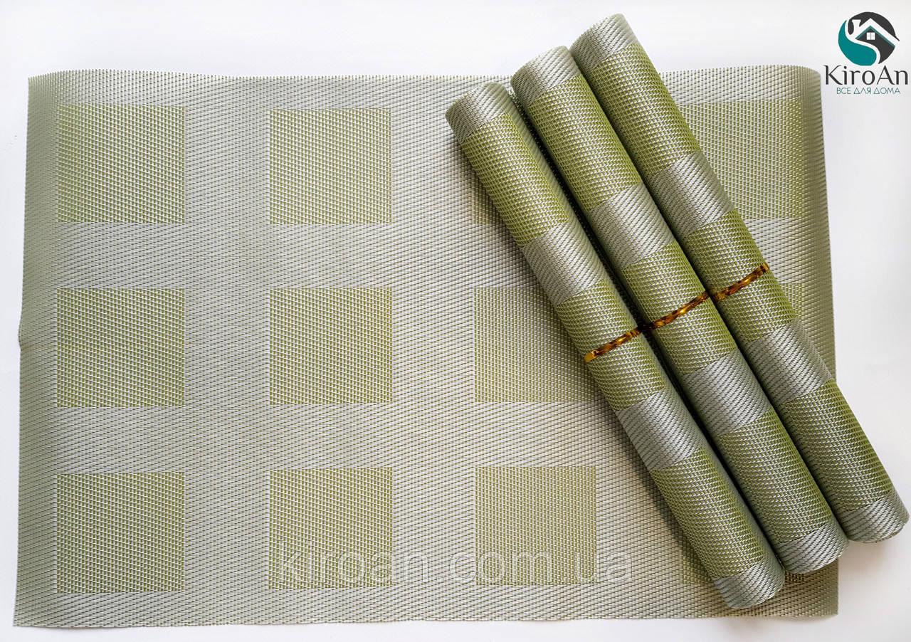 Коврики-подложки для защиты стола (сетка) набор 4шт 30х45см (салатовые)