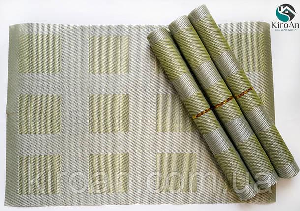 Коврики-подложки для защиты стола (сетка) набор 4шт 30х45см (салатовые), фото 2