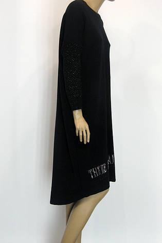 черное платье осень зима свободного покроя Binka, фото 2