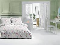 Постельное белье TAC ранфорс Kaylee розовый евро размера.