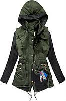 Парка женская ,молодежная куртка-парка,молодежная зеленая парка
