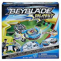 Б/У Игровой набор Hasbro Beyblade Burst Evolution Star Storm Battle Set арена и 2 волчка, фото 1