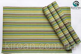 Коврики-подложки для сервировки стола (сетка) набор 4шт 30х45см (зеленые)