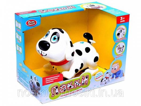 Интерактивное животное - собачка Лакки сенсорная, подсветка, музыка, русское озвучивание