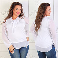Блуза шифоновая в цветах 27005, фото 1
