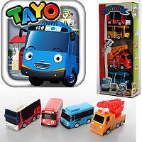 """Набір машинок """"Автобуси Тайо"""" 555888 гумові колеса, 2 види, в коробці, 10-25-4,5 см"""