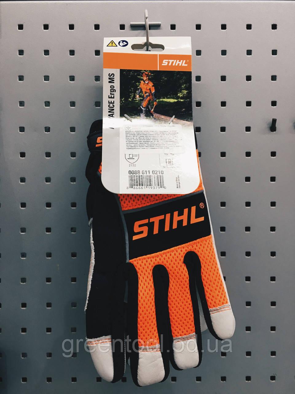 Защитные рабочие перчатки STIHL MS Ergo