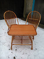 """2 кресла """"Яйца"""" + квадратный столик """"Коса"""""""