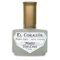 Маттирующее верхнее покрытие для лака El Corazon Nail Care Matte Top Coat №430 16 мл