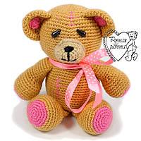 Іграшка ведмедик в'язаний