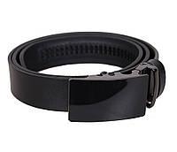 Мужской кожаный ремень Dovhani MOR1-01 115-125 см Черный