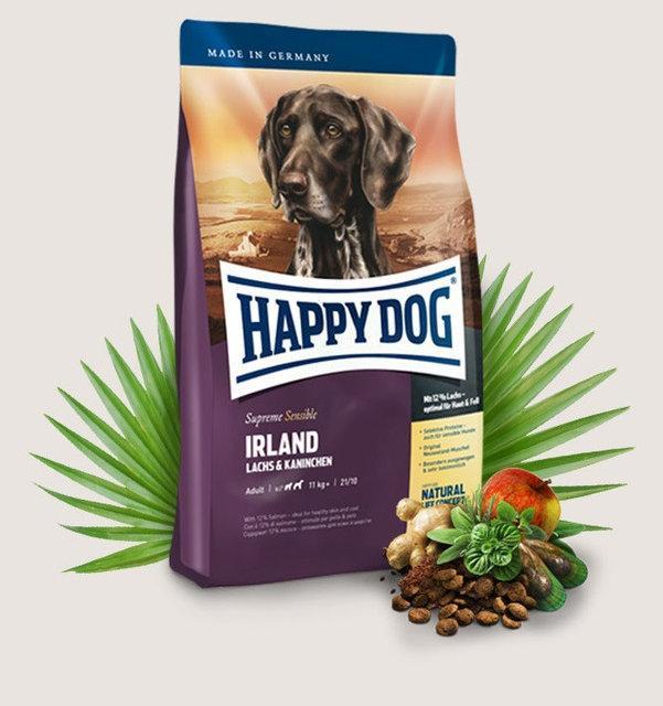 Happy Dog Supreme Sensible Irland - гипоаллергенный корм для собак (с лососем и кроликом), 12.5 кг