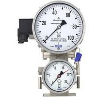 Манометр для криотехники, измерение перепада давления, исполнение из CrNi-стали, НР 160 мм 732.15.160