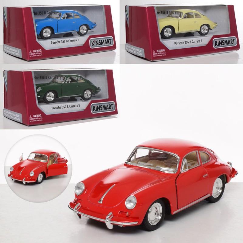 Porsche 356 KT 5398 W інерційна, металева, відкриваються двері, гумові колеса, 2 види, в коробці, 16-7,5-8см