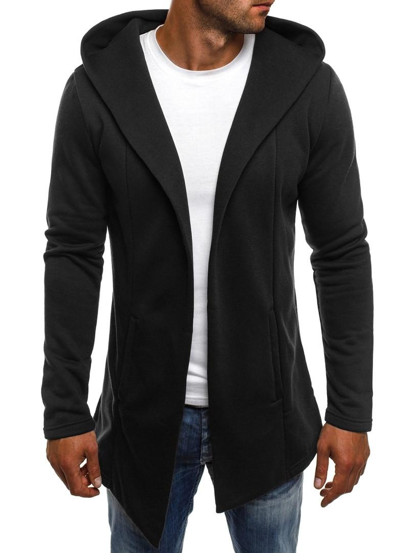 Теплая мантия накидка мужская J. Style черная