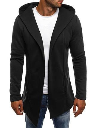 Теплая мантия накидка мужская J. Style черная, фото 2