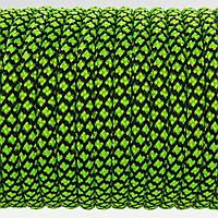 Паракорд 550 TYPE III,Grid Black&LimeGreen №080