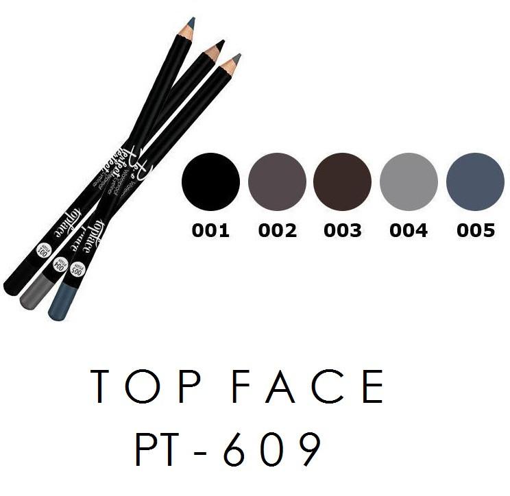 Карандаш для глаз Perfect Waterproof TopFace PT-609
