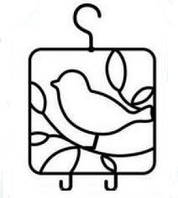 "Кованая  вешалка ""птица"""