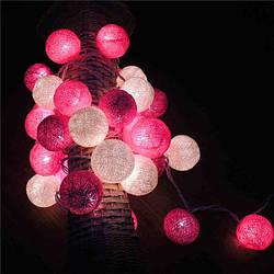 Гирлянды декоративные Cotton Balls 10 шариков