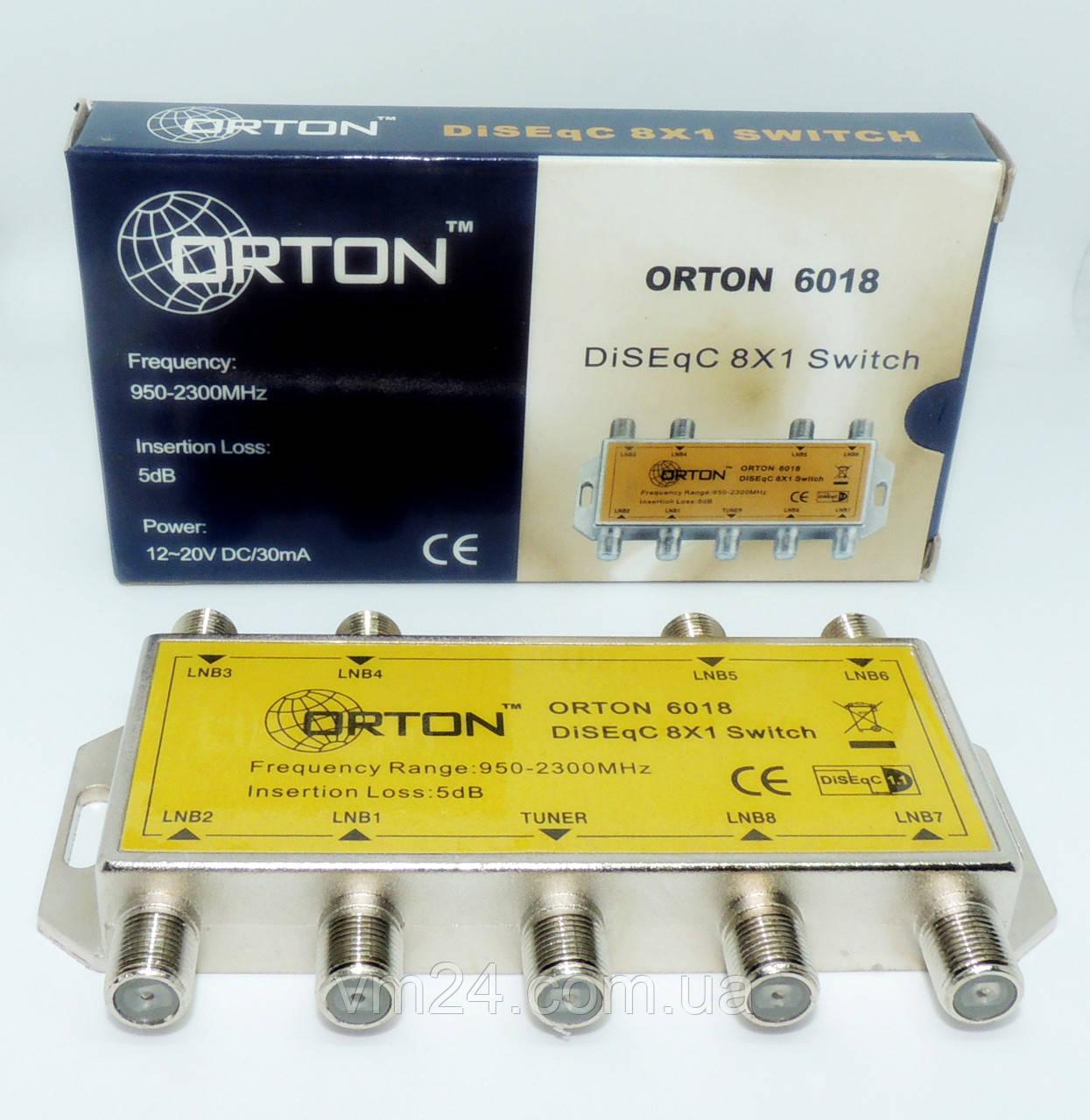 Коммутатор DiSEqC 1.1 Orton DSG 8/1 Diseq 8x1