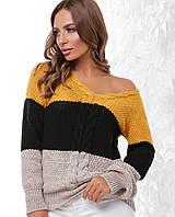 d924ff5746b5 Женский трехцветный свитер в Украине. Сравнить цены, купить ...