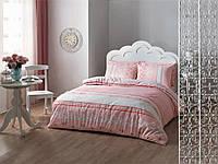 Постельное белье TAC ранфорс Rose розовый евро размера.