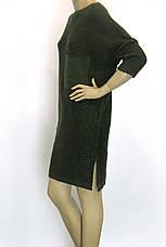Вязане плаття з люрексом оверсайз зеленого кольору , фото 2
