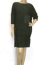Вязане плаття з люрексом оверсайз зеленого кольору , фото 3