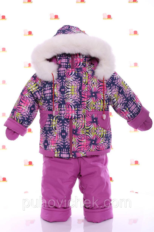Дитячі зимові комбінезони для дівчаток на підстібці з овчинки інтернет магазин