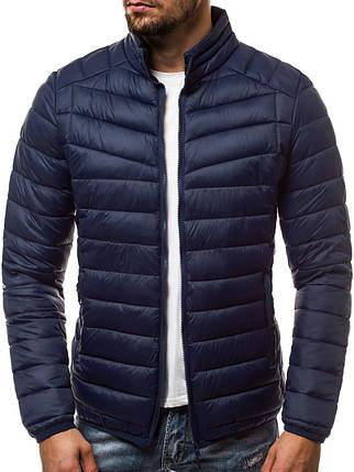 Мужская демисезонная куртка J. Style темно-синяя, фото 2
