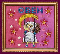 Набор для вышивки бисером магнит Знак Зодиака Овен