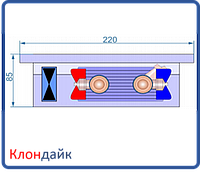 Внутрипольный конвектор Radopol KVK 8 250*3750
