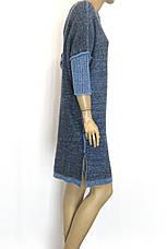 Вязаное платье с люрексом осень зима свободного покроя , фото 3