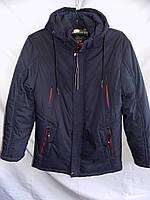 Куртка мужская зимняя большой размер тинсулейт D44 синяя Фабричный Китай оптом, фото 1