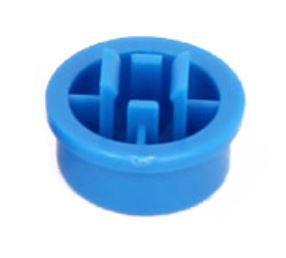 Колпачок круглый тактовой кнопки микрика 12мм синий