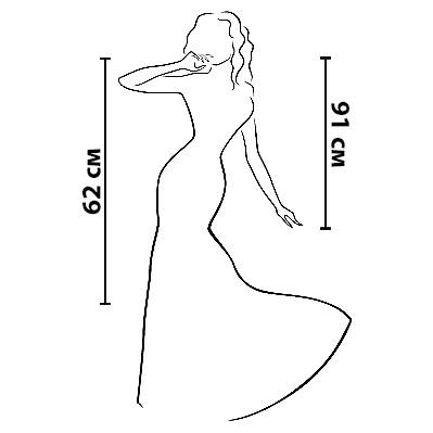 Размерная сетка на платье Рябина