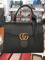 Сумка брендовая Gucci Гуччи качественная эко-кожа черная
