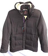 Куртка мужская зимняя большой размер тинсулейт черная Фабричный Китай оптом, фото 1