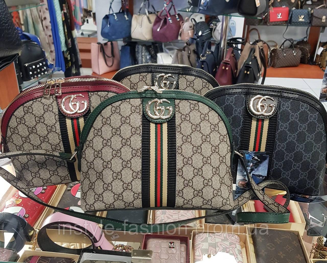 Женский клатч через плечо Gucci Гуччи качественная эко-кожа выбор цветов