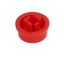 Колпачок круглый тактовой кнопки микрика 12мм красный