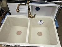 Мойка кухонная гранитная врезная Vered D-8001 Vanila Granit, фото 1