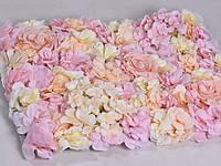 Аренда Фотозона из цветов пастельных полиуретан и ткань искусственный размер 200*300см, фото 2